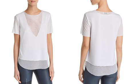 KORAL Layered-Look Mesh & Jersey Tee - Bloomingdale's_2