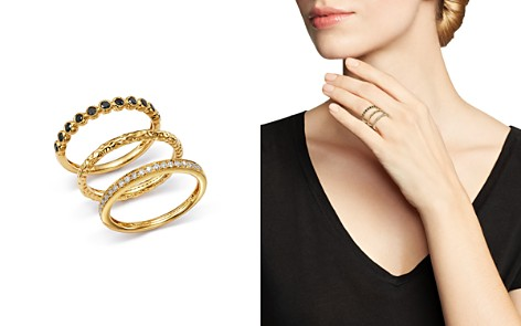 Bloomingdale's White & Black Diamond Rings, Set of 3 in 14K Yellow Gold - 100% Exclusive _2