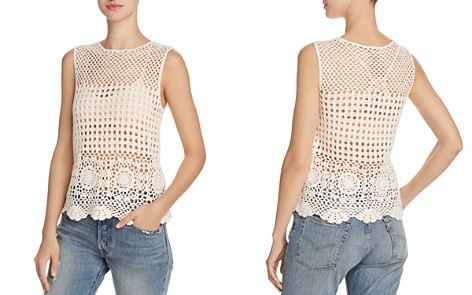 AQUA Sheer Crochet Tank - 100% Exclusive - Bloomingdale's_2