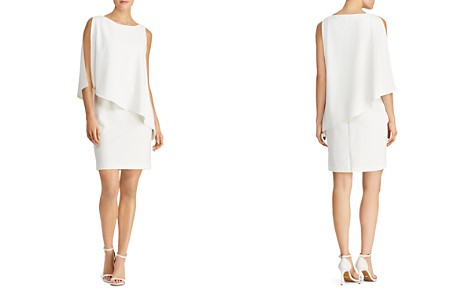 Lauren Ralph Lauren Asymmetric Crêpe Dress - Bloomingdale's_2