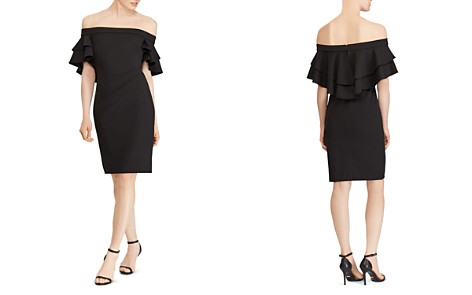 Lauren Ralph Lauren Ruffled Off-the-Shoulder Crepe Dress - Bloomingdale's_2
