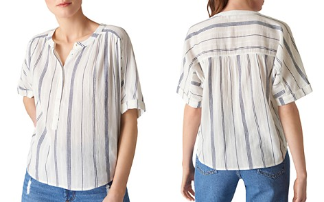 Whistles Paula Striped Shirt - Bloomingdale's_2