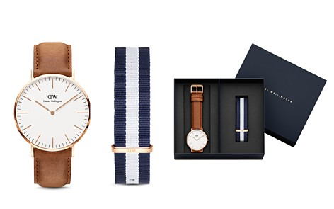 Daniel Wellington Classic Durham Watch, 40mm with NATO Strap Gift Set - Bloomingdale's_2