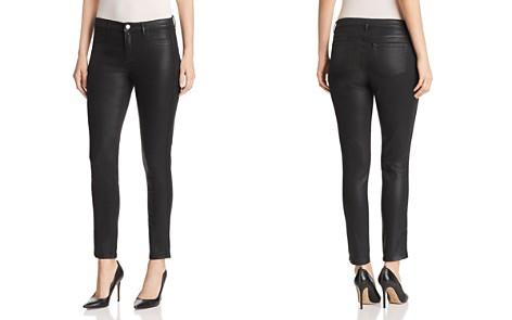 Elie Tahari Azella Braid Waxed Skinny Jeans in Black - Bloomingdale's_2
