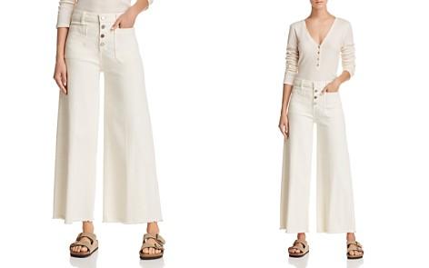 Elizabeth and James Carmine Crop Wide-Leg Jeans in Muslin - Bloomingdale's_2