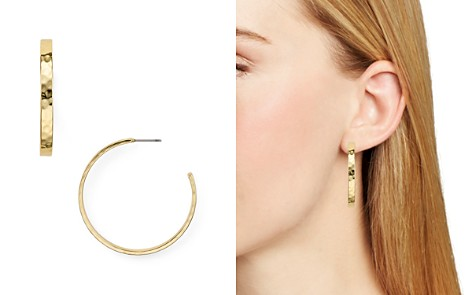 AQUA Hammered Hoop Earrings - 100% Exclusive - Bloomingdale's_2