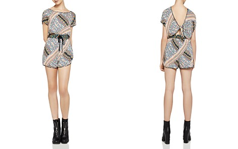 BCBGeneration Printed Tie-Back Romper - Bloomingdale's_2