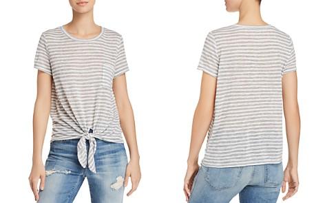 AQUA Tie-Front Pocket Striped Tee - 100% Exclusive - Bloomingdale's_2