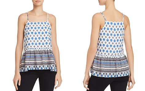 AQUA Flounce-Hem Tile Print Camisole - 100% Exclusive - Bloomingdale's_2