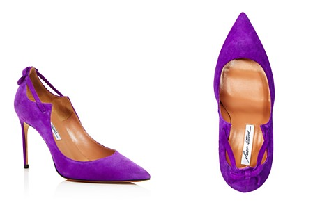 Brian Atwood Women's Veruska Suede Pointed Toe Pumps - Bloomingdale's_2