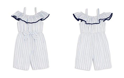 Pippa & Julie Girls' Striped Off-the-Shoulder Romper - Baby - Bloomingdale's_2