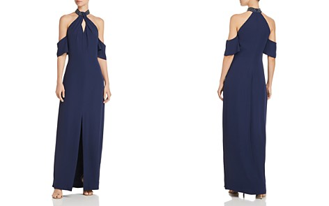Laundry by Shelli Segal Cold-Shoulder Crepe Gown - Bloomingdale's_2