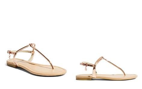 KAREN MILLEN Women's Metallic Leather Thong Sandals - Bloomingdale's_2