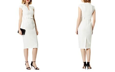 KAREN MILLEN Belted Puff-Sleeve Sheath Dress - Bloomingdale's_2