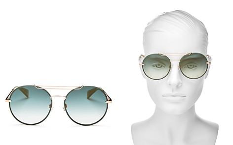 rag & bone Women's Mirrored Brow Bar Round Sunglasses, 59mm - Bloomingdale's_2