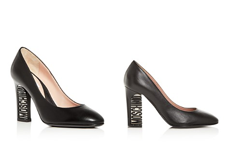 Moschino Women's Leather Logo High-Heel Pumps - Bloomingdale's_2