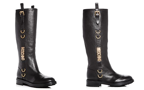 Moschino Women's Logo Leather Riding Boots - Bloomingdale's_2