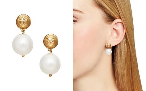 Tory Burch Crystal Simulated Pearl Drop Earrings - Bloomingdale's_2