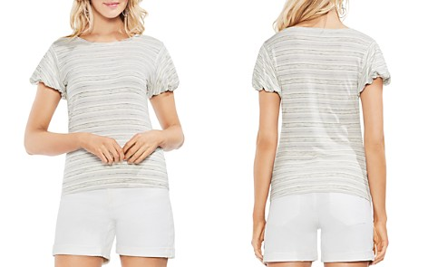 VINCE CAMUTO Striped Bubble-Sleeve Tee - Bloomingdale's_2