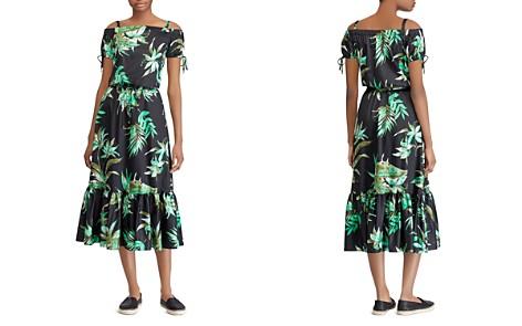 Lauren Ralph Lauren Cotton Sateen Off-The-Shoulder Dress - Bloomingdale's_2