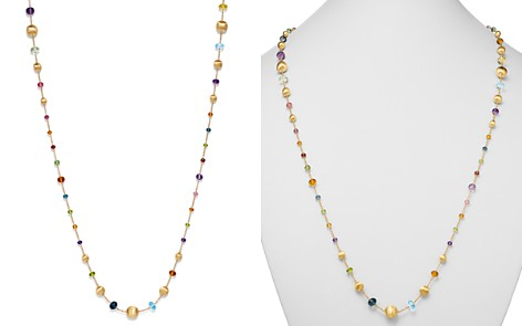 """Marco Bicego 18K Yellow Gold Africa Color Multi Gemstone Necklace, 26"""" - 100% Exclusive - Bloomingdale's_2"""