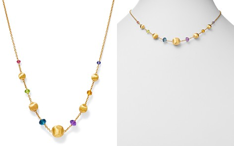 """Marco Bicego 18K Yellow Gold Africa Color Multi Gemstone Bead Necklace, 16"""" - 100% Exclusive - Bloomingdale's_2"""