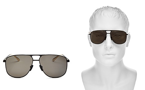 Gucci Men's Brow Bar Aviator Sunglasses, 65mm - Bloomingdale's_2