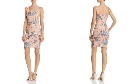 AQUA Palm Print Scalloped Body-Con Dress - 100% Exclusive - Bloomingdale's_2