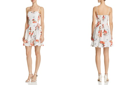 AQUA Ruffled Floral Print Faux-Wrap Dress - 100% Exclusive - Bloomingdale's_2