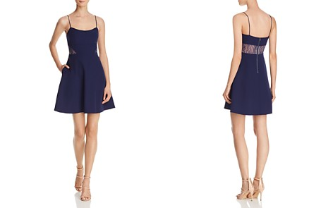 Aidan by Aidan Mattox Lace-Inset Crepe Dress - 100% Exclusive - Bloomingdale's_2
