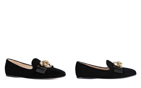 Gucci Women's Etoile Embellished Velvet Flats - Bloomingdale's_2
