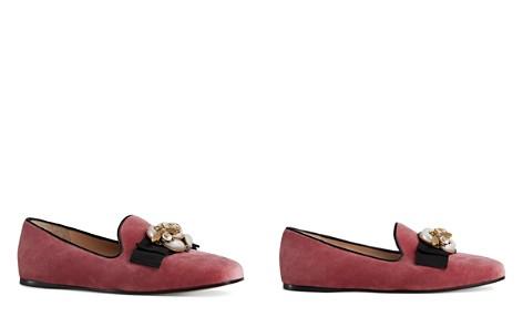 Gucci Women's Embellished Velvet Flats - Bloomingdale's_2