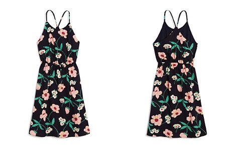 AQUA Girls' Floral Strappy Dress, Big Kid - 100% Exclusive - Bloomingdale's_2