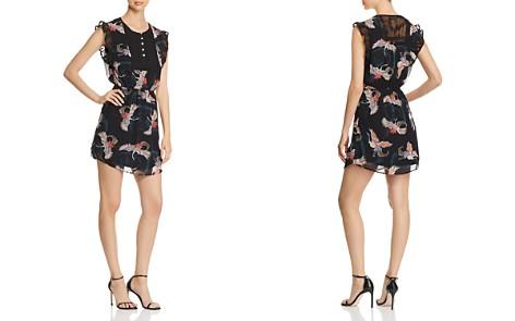 Daniel Rainn Bird-Print Chiffon Dress - Bloomingdale's_2