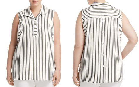 Foxcroft Plus Dani Sleeveless Striped Tunic Top - Bloomingdale's_2
