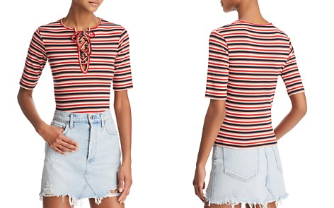 The Fifth Label Parade Stripe Lace-Up Top - Bloomingdale's_2