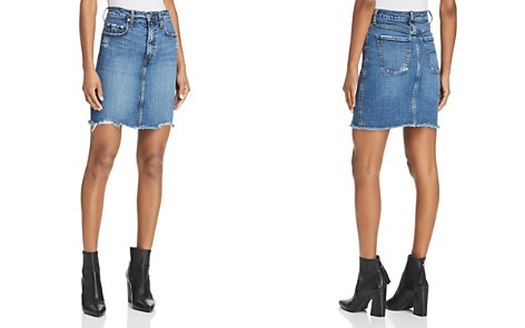 Nobody Siren Denim Skirt in Loud - Bloomingdale's_2