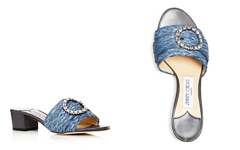 Jimmy Choo Women's Granger 35 Embellished Raffia Slide Sandals - Bloomingdale's_2