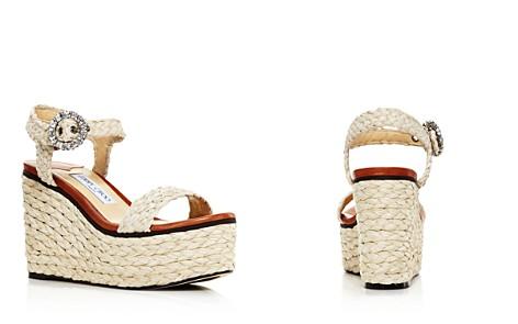 Jimmy Choo Women's Nylah 100 Braided Raffia Wedge Sandals - Bloomingdale's_2