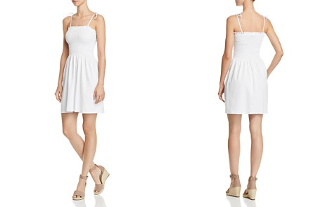 AQUA Tie-Strap Smocked Dress - 100% Exclusive - Bloomingdale's_2