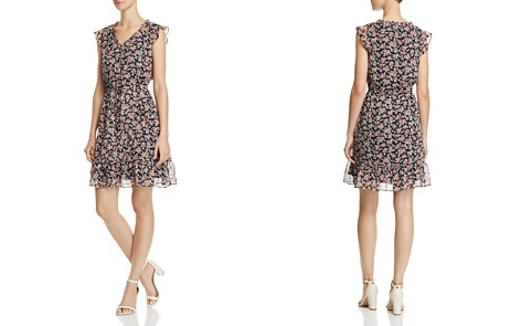 AQUA Floral Print Drawstring Dress - 100% Exclusive - Bloomingdale's_2