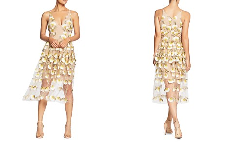 Dress the Population Betsy Floral Illusion Dress - Bloomingdale's_2