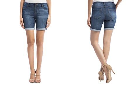 Liverpool Corine Cuffed Denim Shorts in Montauk Mid Blue - Bloomingdale's_2