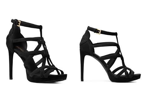 MICHAEL Michael Kors Women's Sandra Strappy Suede Platform High-Heel Sandals - Bloomingdale's_2