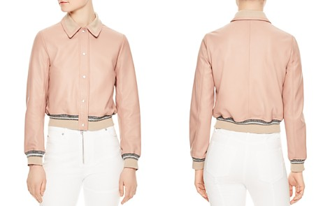Sandro Biopic Collared Bomber Jacket - Bloomingdale's_2