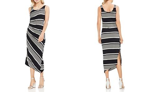 VINCE CAMUTO Petites Venue Block Stripe Ruched Midi Dress - Bloomingdale's_2