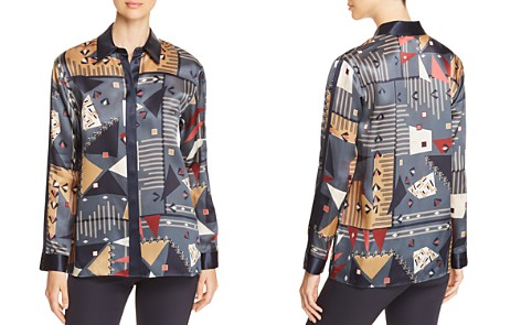 Lafayette 148 New York Sabel Geometric-Print Silk Blouse - Bloomingdale's_2