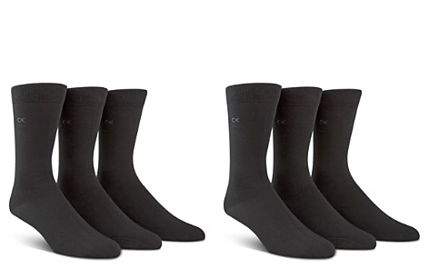 Calvin Klein Men's Combed Flat Knit Sock Three Pack - Bloomingdale's_2