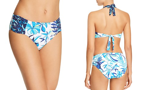 Tommy Bahama Tropical High Waist Shirred Hipster Bikini Bottom - Bloomingdale's_2