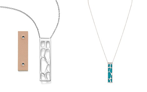 "Les Georgettes Giraffe Rectangle Pendant Necklace in Nude/Aquatic, 16"" - Bloomingdale's_2"
